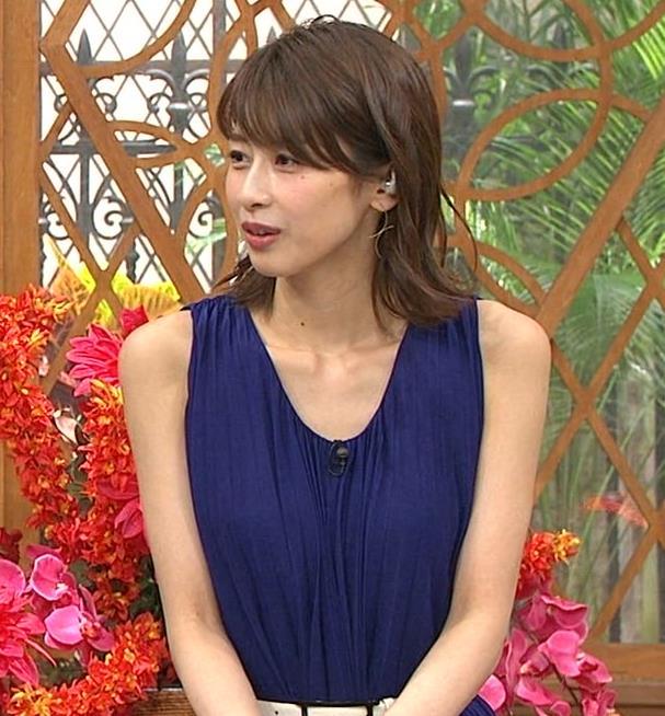 加藤綾子アナ 肌の露出が多いノースリーブキャプ・エロ画像5