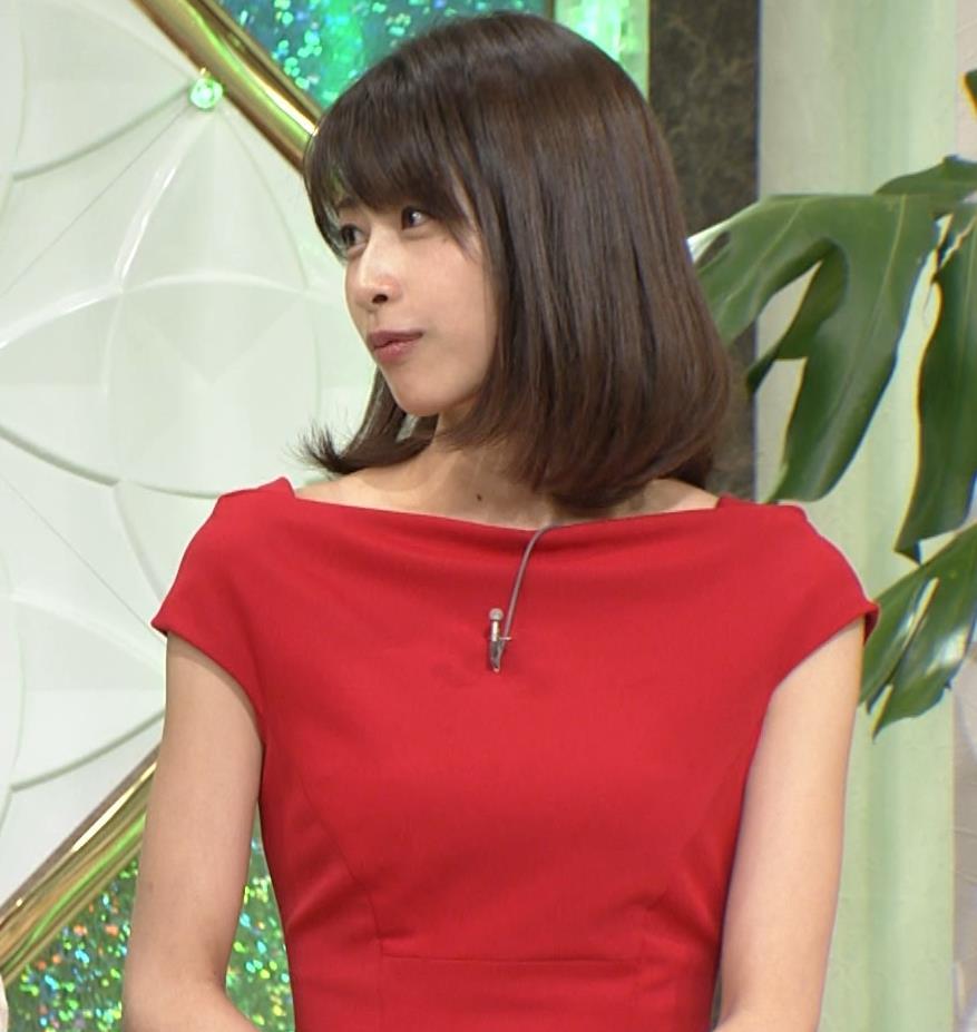 アナ 真っ赤なドレスからインナーがチラチラしてるキャプ・エロ画像13