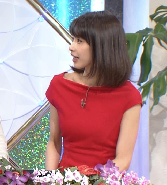 アナ 真っ赤なドレスからインナーがチラチラしてるキャプ・エロ画像6