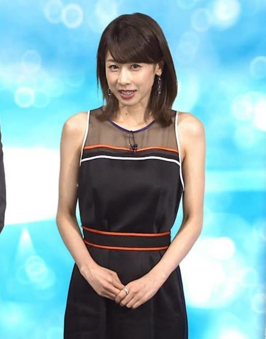 加藤綾子 スケスケのノースリーブキャプ画像(エロ・アイコラ画像)