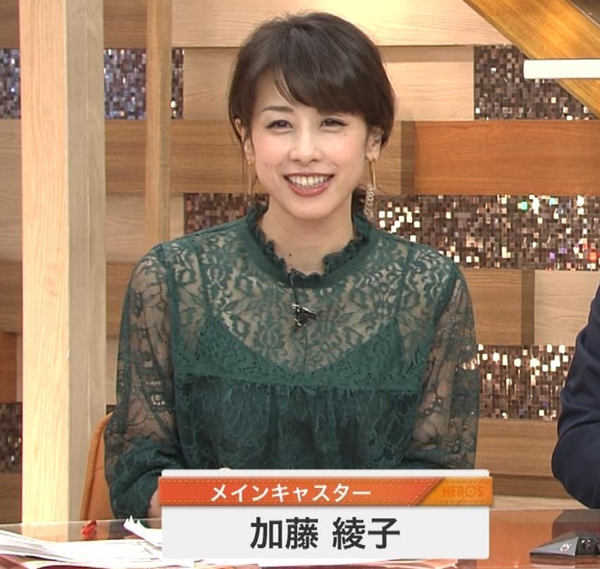 加藤綾子 スケスケ衣装でキャミソール丸見えキャプ・エロ画像2