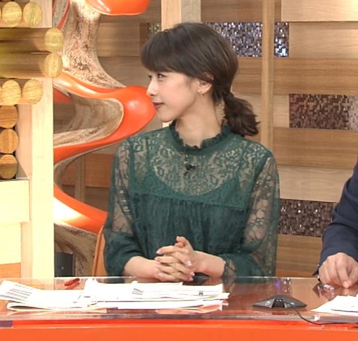 加藤綾子 スケスケ衣装でキャミソール丸見えキャプ・エロ画像3