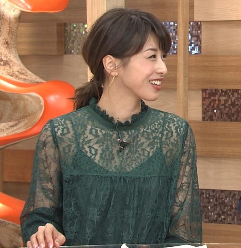 加藤綾子 スケスケ衣装でキャミソール丸見えキャプ・エロ画像8