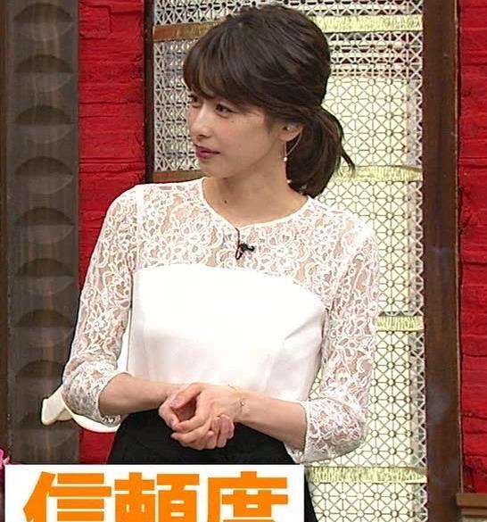加藤綾子 ポニーテールキャプ・エロ画像4