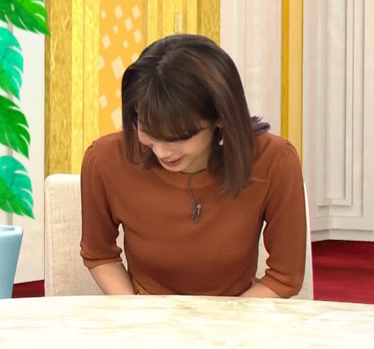 加藤綾子 エロく浮き出たニットおっぱいキャプ・エロ画像3