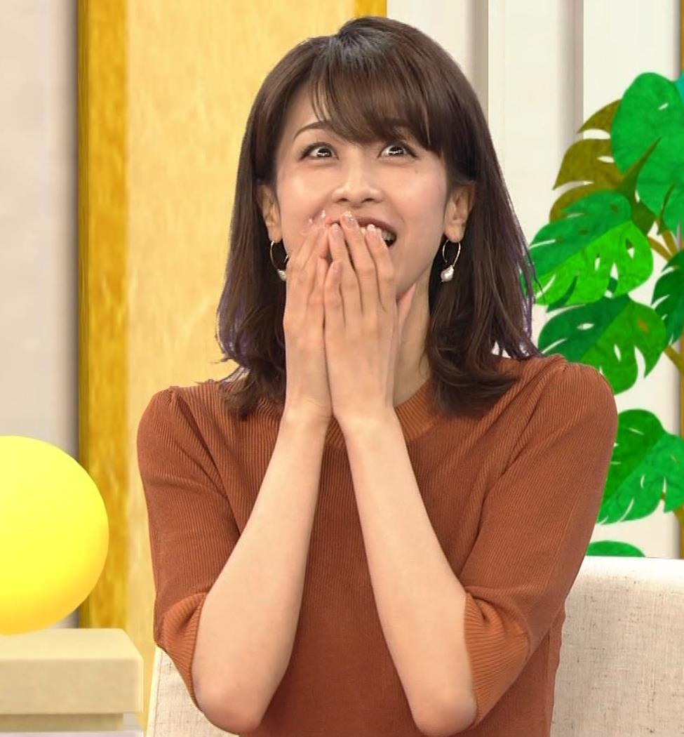 加藤綾子 エロく浮き出たニットおっぱいキャプ・エロ画像7