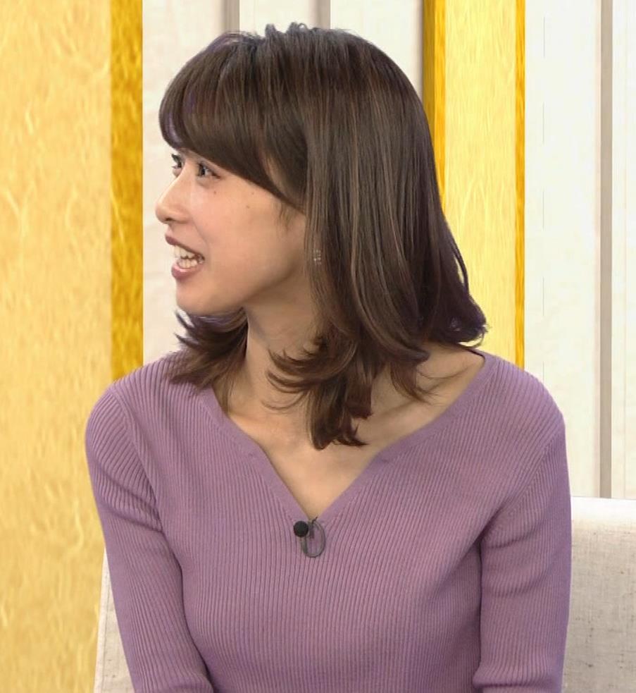 加藤綾子 胸元がエロいニットおっぱい♡キャプ・エロ画像12