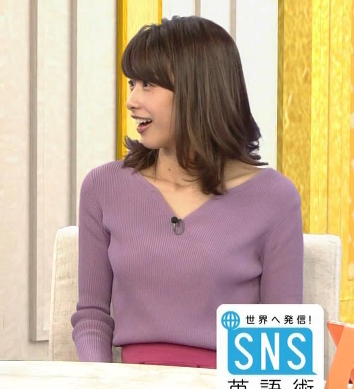 加藤綾子 胸元がエロいニットおっぱい♡キャプ・エロ画像6