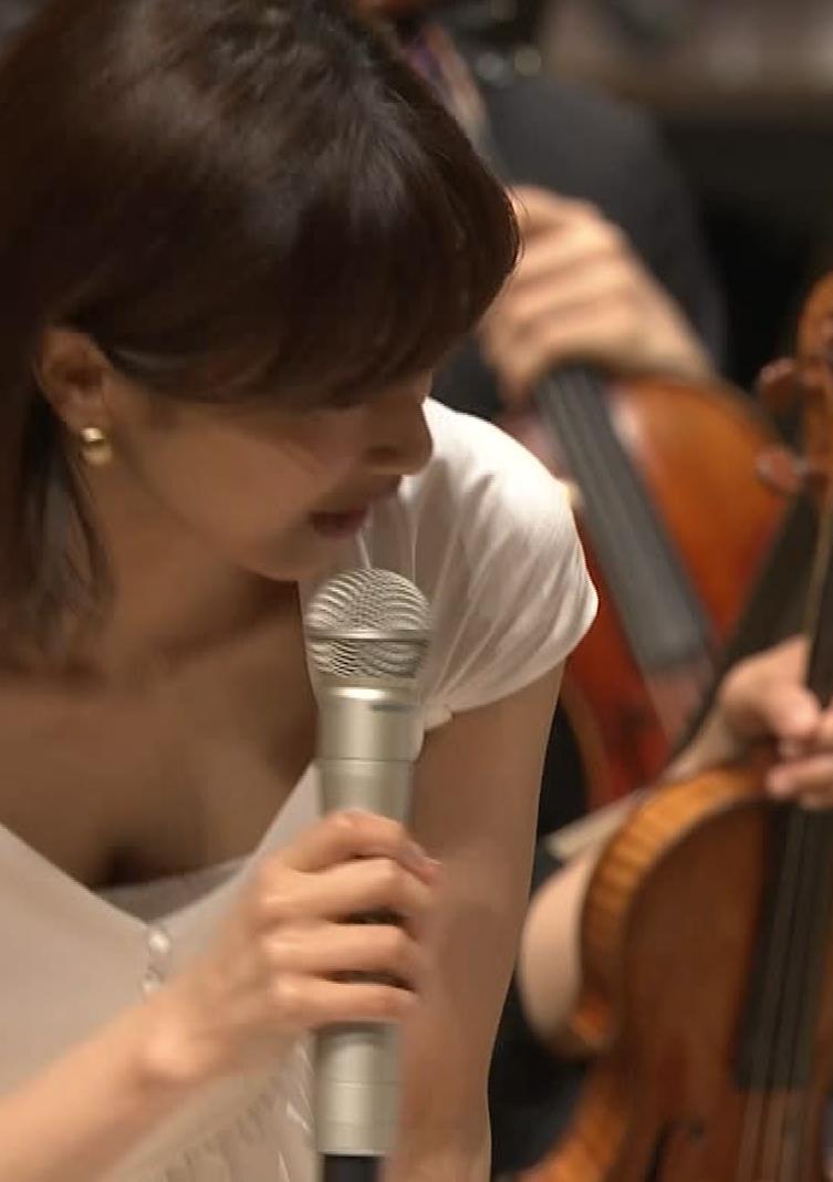 加藤綾子アナ ガッツリ胸チラキャプ・エロ画像
