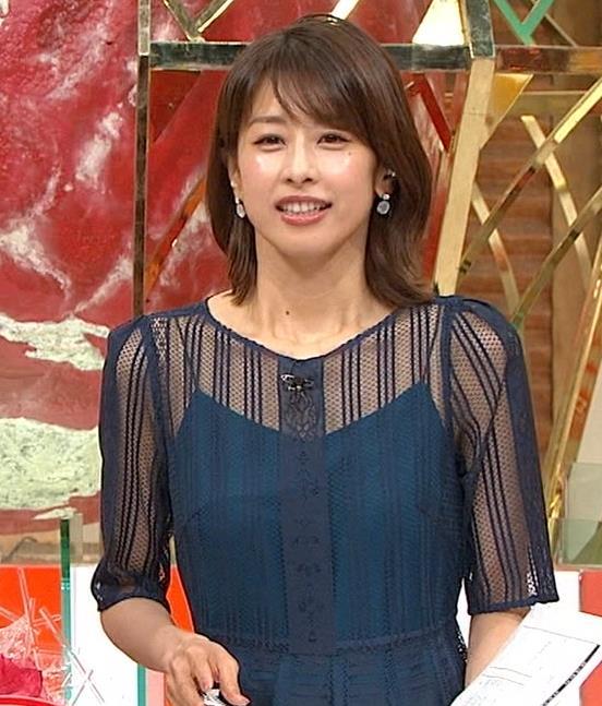 加藤綾子 透け透け衣装!!キャプ・エロ画像