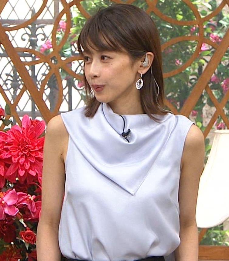 加藤綾子 ノースリーブ姿「ホンマでっかTV!?」 キャプ・エロ画像8