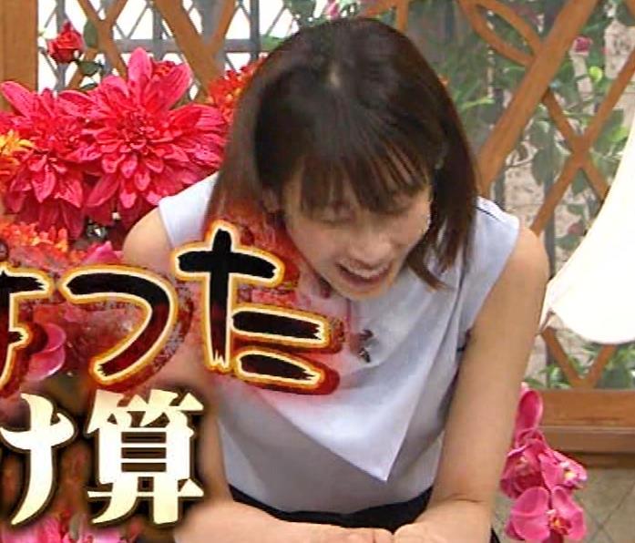 加藤綾子 ノースリーブ姿「ホンマでっかTV!?」 キャプ・エロ画像9