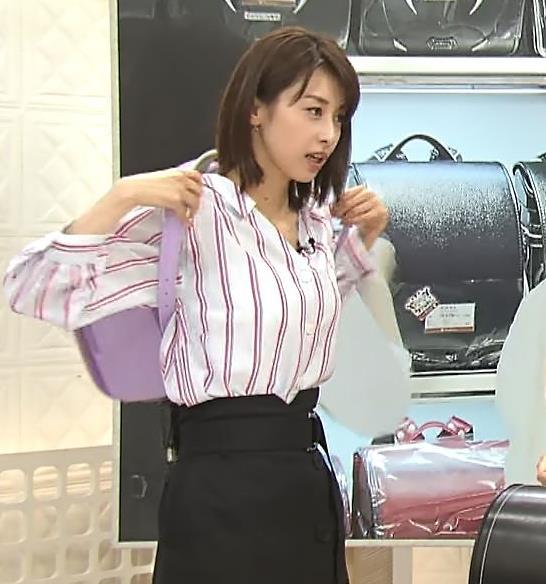 加藤綾子アナ 胸元のはだけ方と表情がエ□い