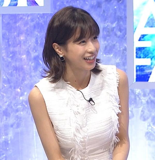 加藤綾子 白いノースリーブキャプ・エロ画像2