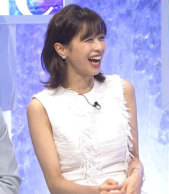 加藤綾子 白いノースリーブキャプ・エロ画像3