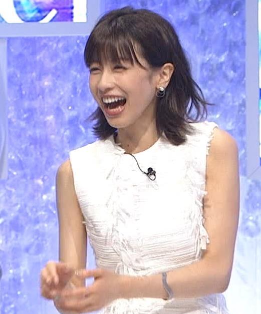 加藤綾子 白いノースリーブキャプ・エロ画像5