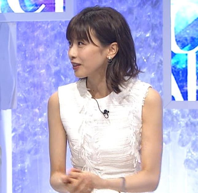 加藤綾子 白いノースリーブキャプ・エロ画像8