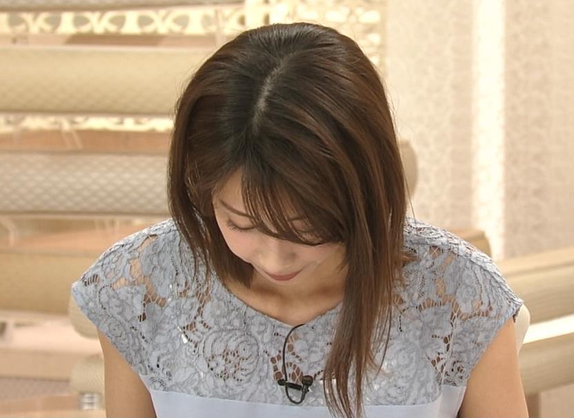 加藤綾子 白い下着が透けてるキャプ・エロ画像5