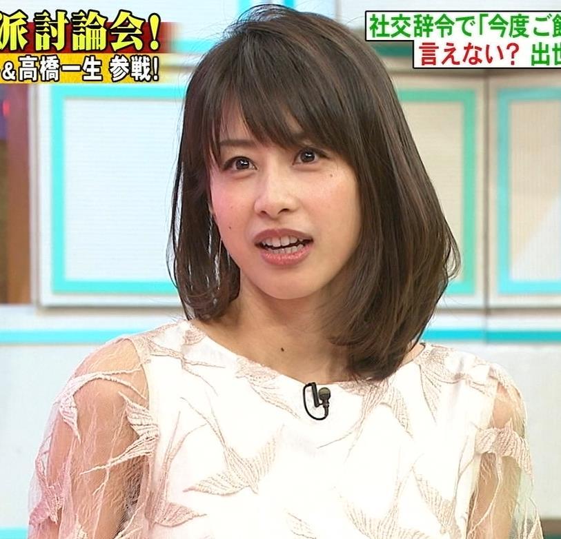 加藤綾子 腕スケスケワンピースキャプ・エロ画像12