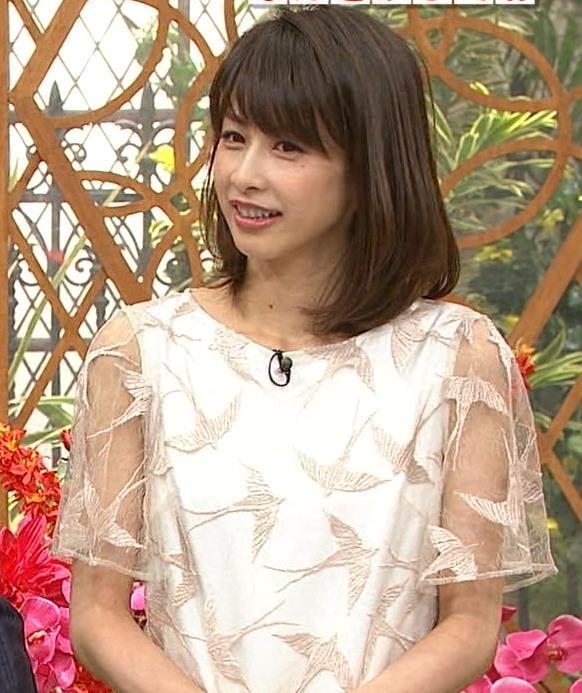 加藤綾子 腕スケスケワンピースキャプ・エロ画像4