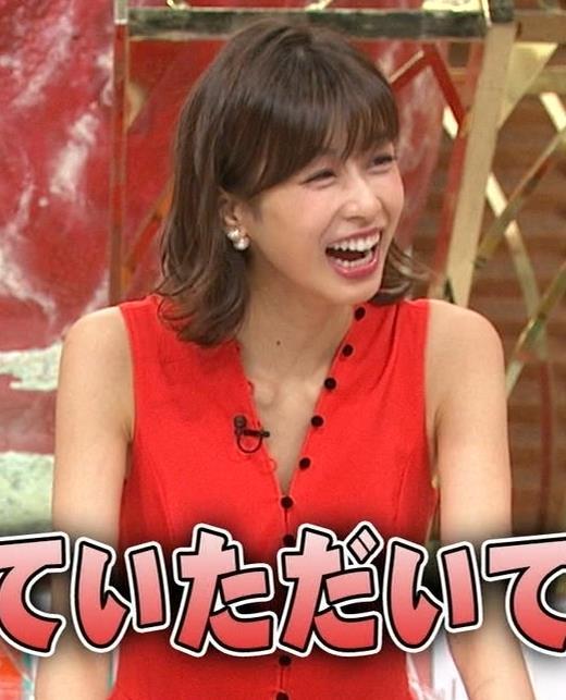 加藤綾子 なんかエロい真っ赤なワンピースキャプ・エロ画像2
