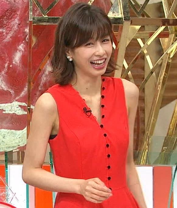 加藤綾子 なんかエロい真っ赤なワンピースキャプ・エロ画像5