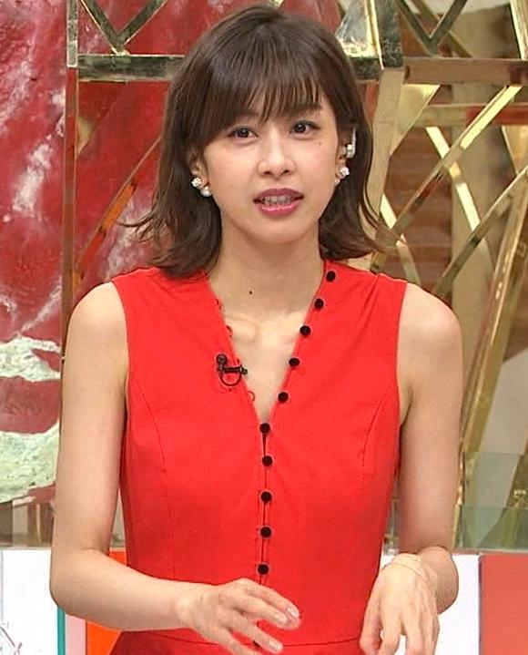 加藤綾子 なんかエロい真っ赤なワンピースキャプ・エロ画像6