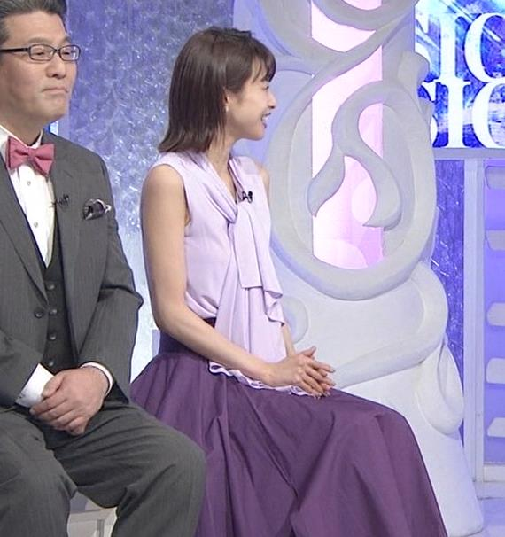 加藤綾子 ノースリーブの白い肌キャプ・エロ画像