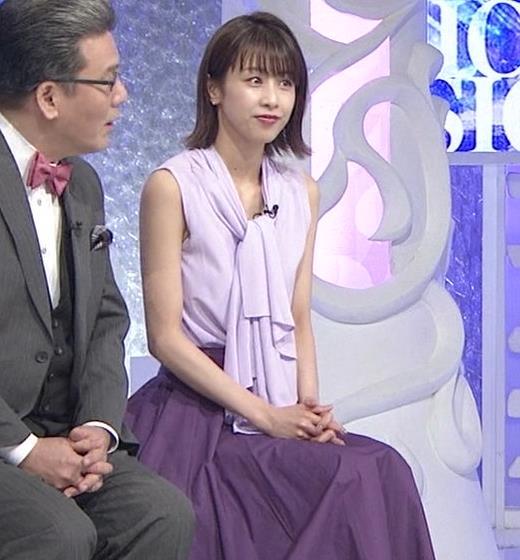 加藤綾子 ノースリーブの白い肌キャプ・エロ画像4