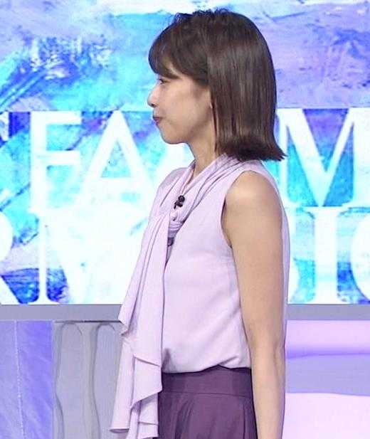 加藤綾子 ノースリーブの白い肌キャプ・エロ画像9