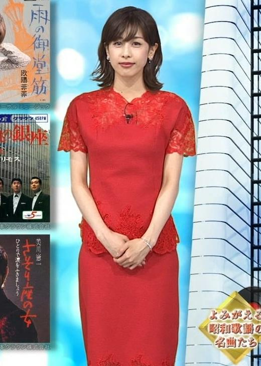 加藤綾子 チャイナドレス風衣装がエロいキャプ・エロ画像