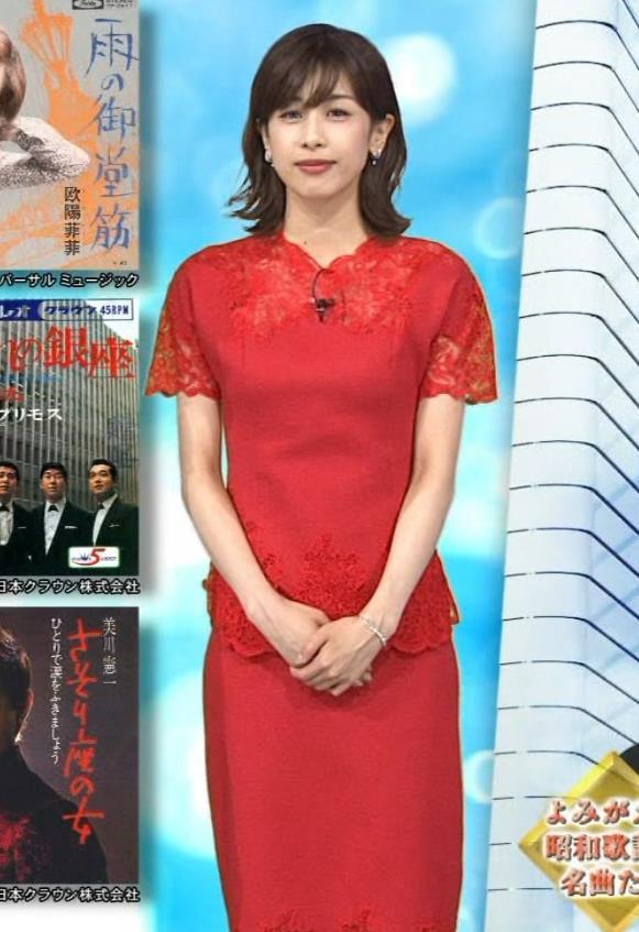 加藤綾子 チャイナドレス風衣装がエロいキャプ・エロ画像5