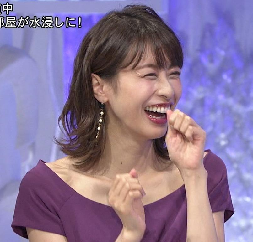 加藤綾子 鎖骨を大胆露出キャプ・エロ画像4