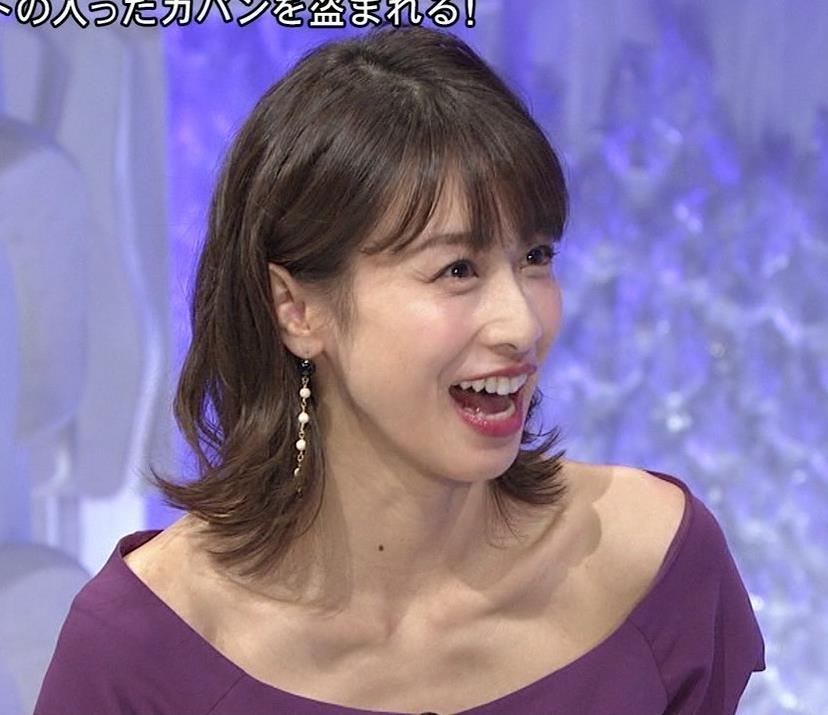 加藤綾子 鎖骨を大胆露出キャプ・エロ画像5