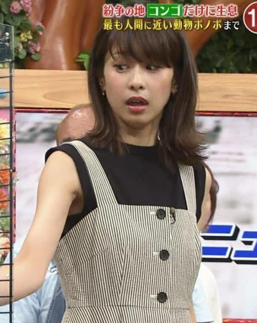 加藤綾子 またワキがエロい衣装キャプ画像(エロ・アイコラ画像)