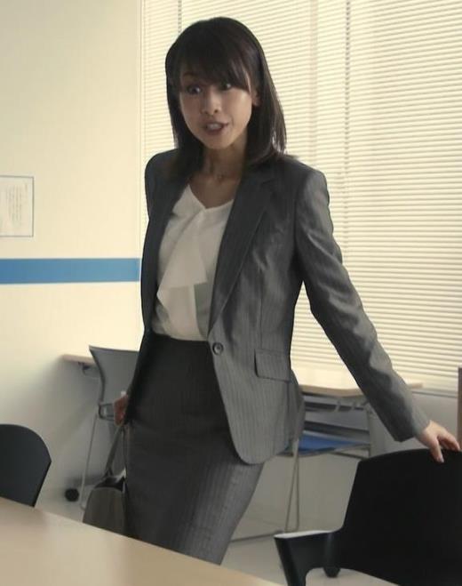 加藤綾子 ドラマでのスーツ姿キャプ画像(エロ・アイコラ画像)