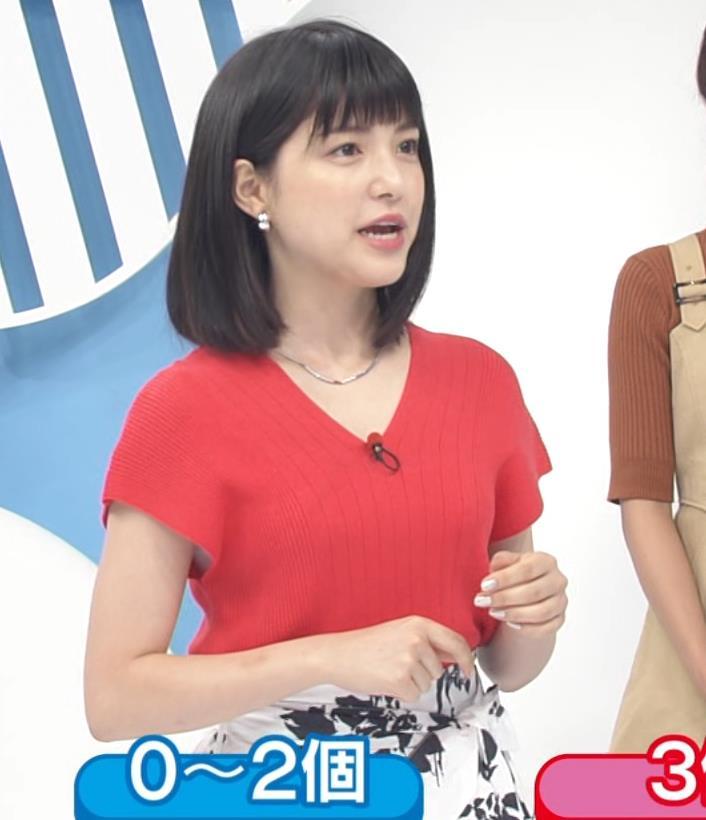 川島海荷 ワキチラ&ニット乳キャプ・エロ画像