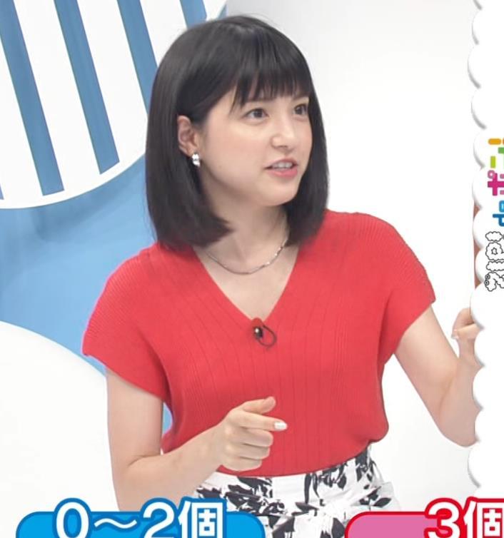 川島海荷 ワキチラ&ニット乳キャプ・エロ画像4