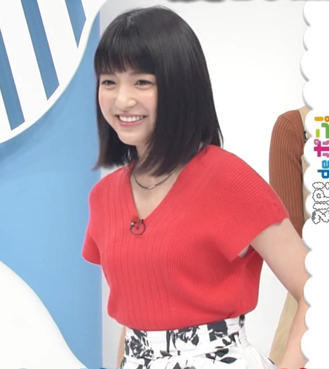 川島海荷 ワキチラ&ニット乳キャプ・エロ画像5