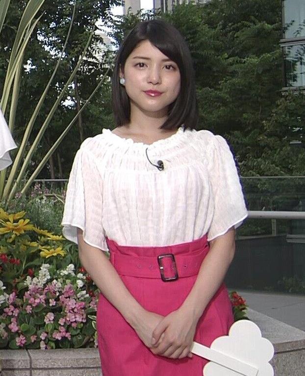 川島海荷 ピンクの長いスカートのスリットキャプ・エロ画像
