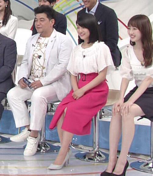 川島海荷 ピンクの長いスカートのスリットキャプ・エロ画像11