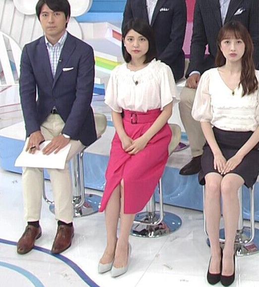 川島海荷 ピンクの長いスカートのスリットキャプ・エロ画像6