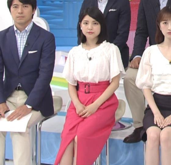 川島海荷 ピンクの長いスカートのスリットキャプ・エロ画像8