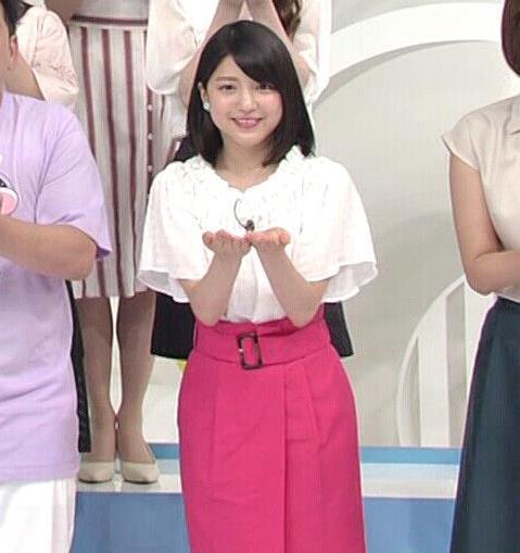 川島海荷 ピンクの長いスカートのスリットキャプ・エロ画像10