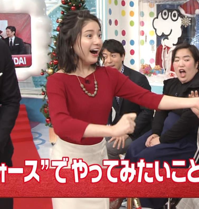 川島海荷 タイトな服の体つきがエロ過ぎキャプ・エロ画像3