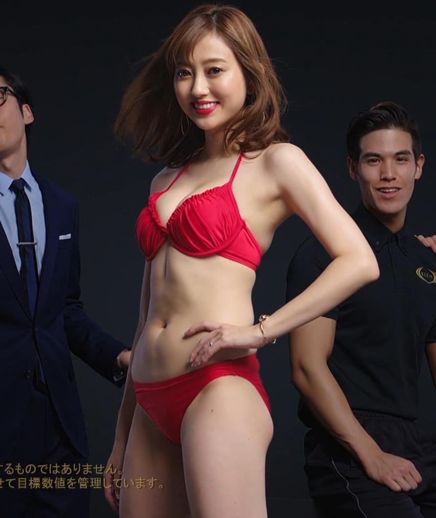 菊地亜美 ライザップCMの水着キャプ・エロ画像5