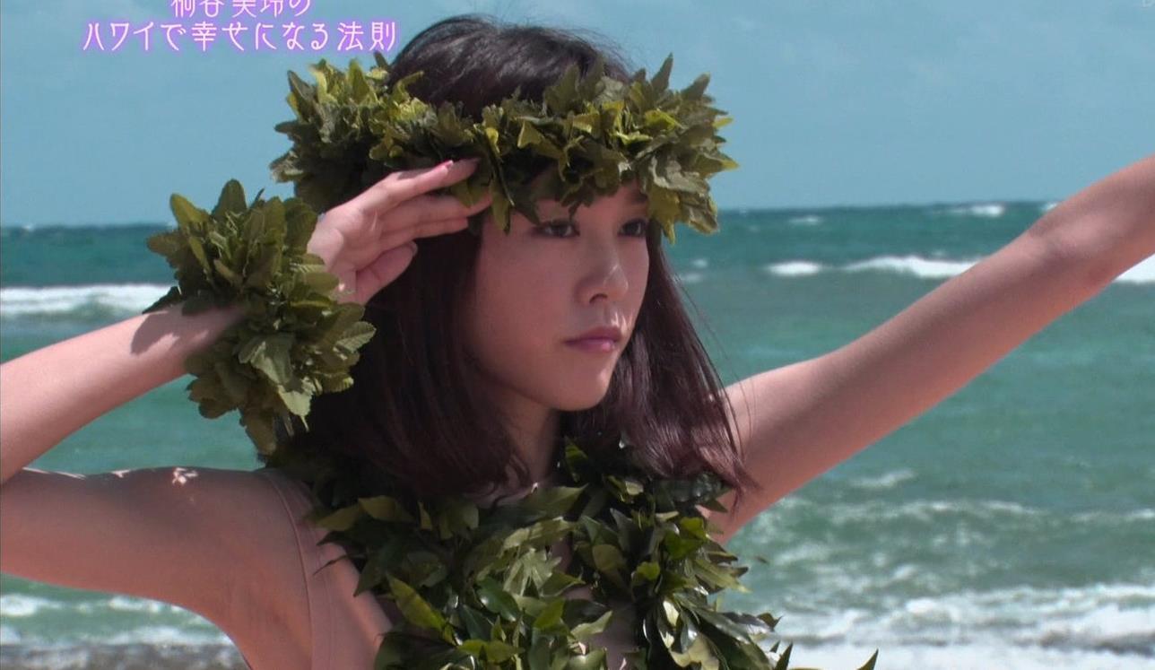 桐谷美玲 ヨガで胸ちらキャプ・エロ画像11