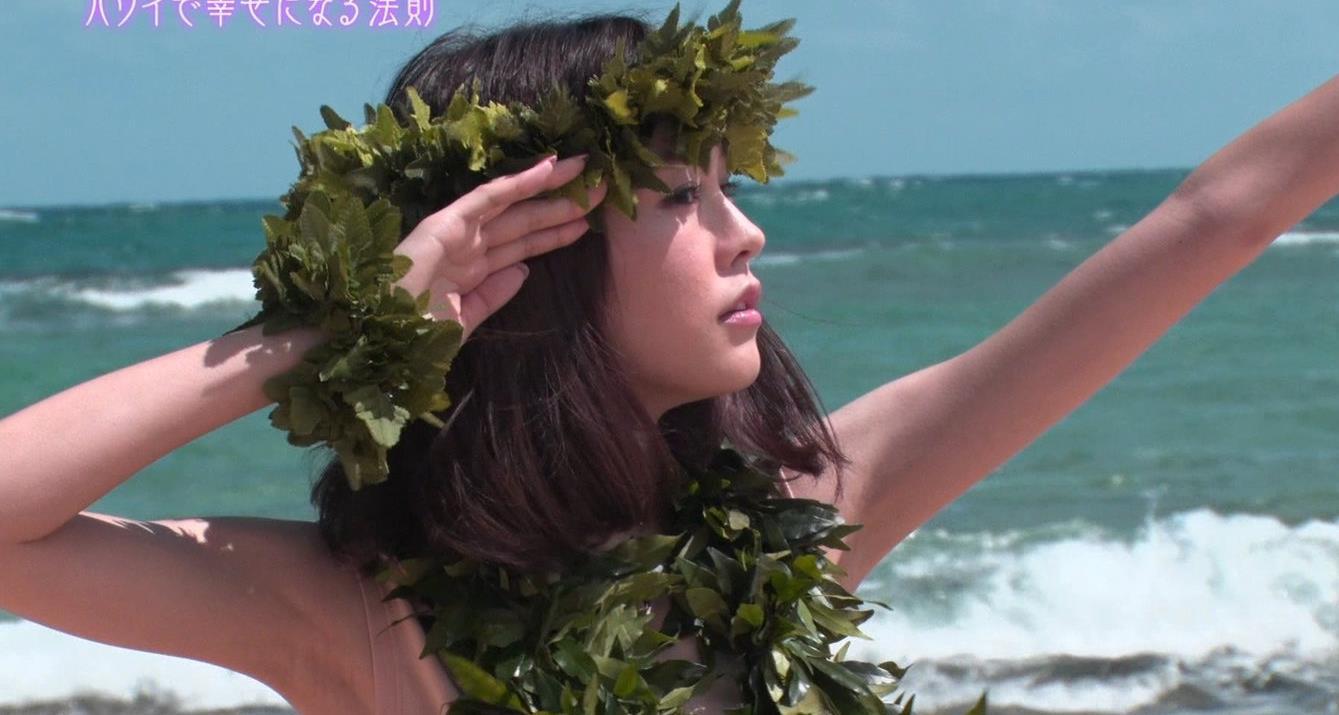 桐谷美玲 ヨガで胸ちらキャプ・エロ画像12