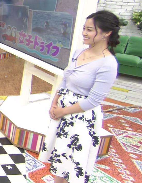 小林麗菜 フェロモンたっぷりのニット巨乳キャプ・エロ画像3