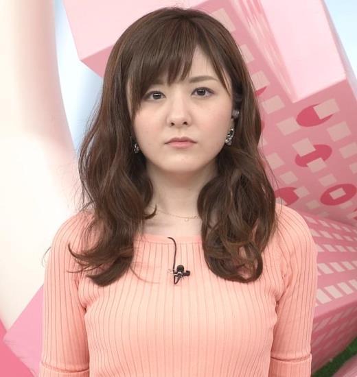 小菅晴香 おっぱいがデカそうなニット乳キャプ画像(エロ・アイコラ画像)